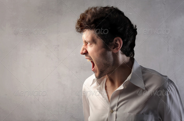Furious man - Stock Photo - Images