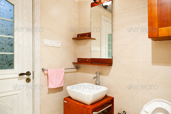 Design of a bathroom - Stock Photo - Images