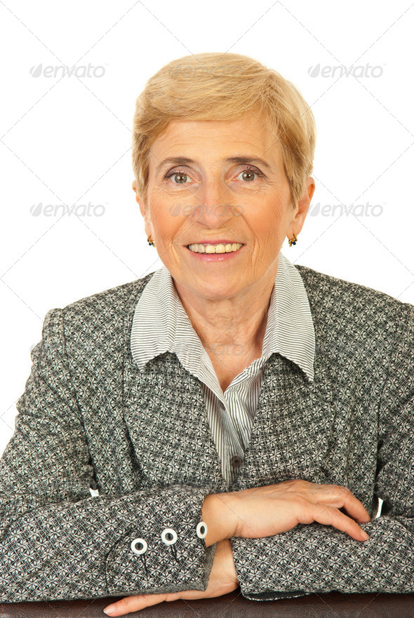 Friendly senior business woman - Stock Photo - Images