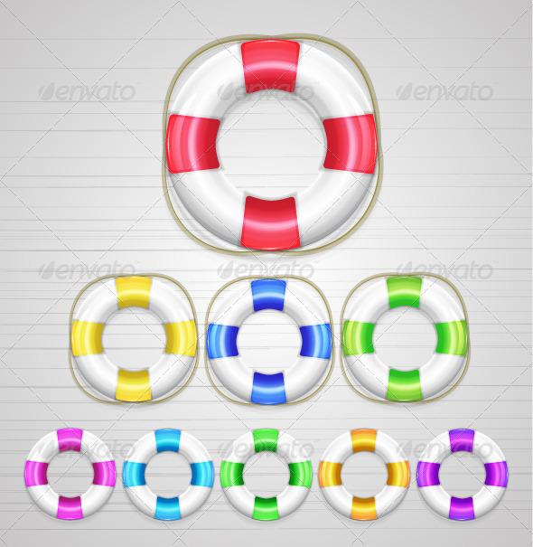 GraphicRiver Vector Lifebuoys 3327576