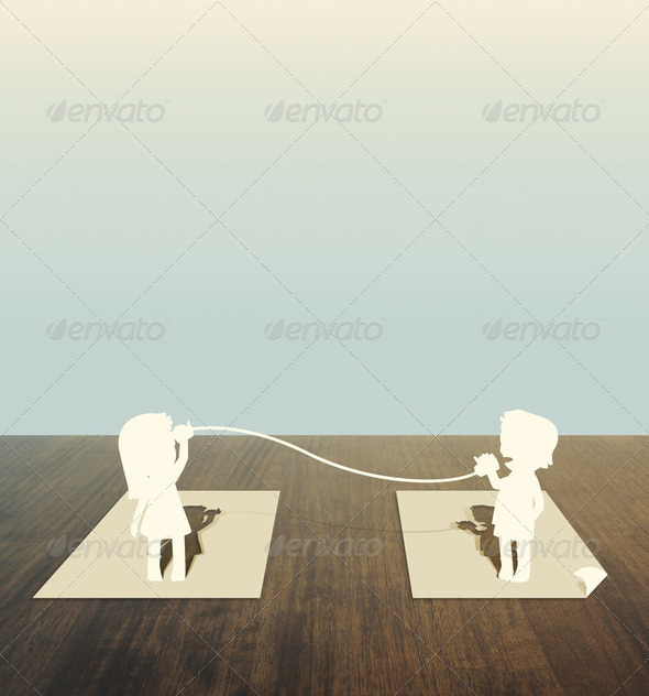 Paper cut of child - Stock Photo - Images