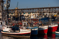 Fishing boats in Cape Town Harbor