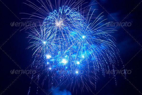 Beautiful fireworks - Stock Photo - Images