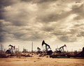 Oil Field in Desert, Oil Production - PhotoDune Item for Sale