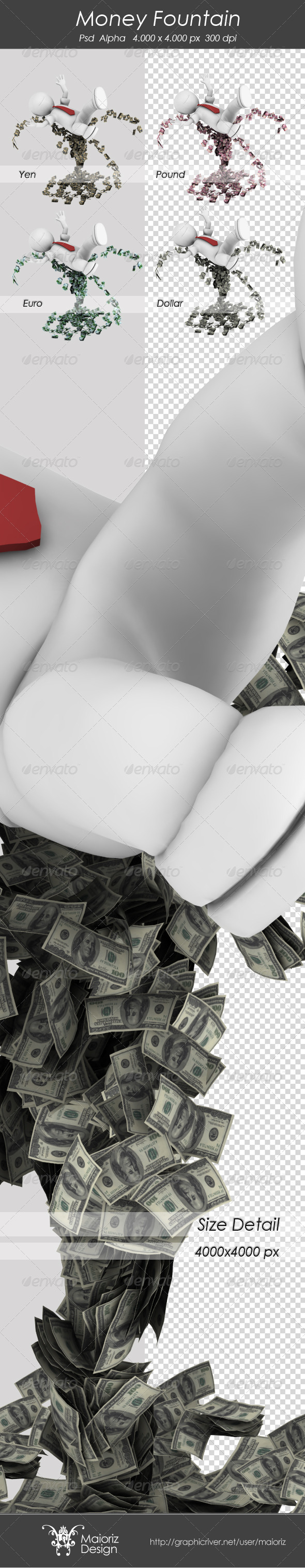 GraphicRiver Money Fountain 3342365
