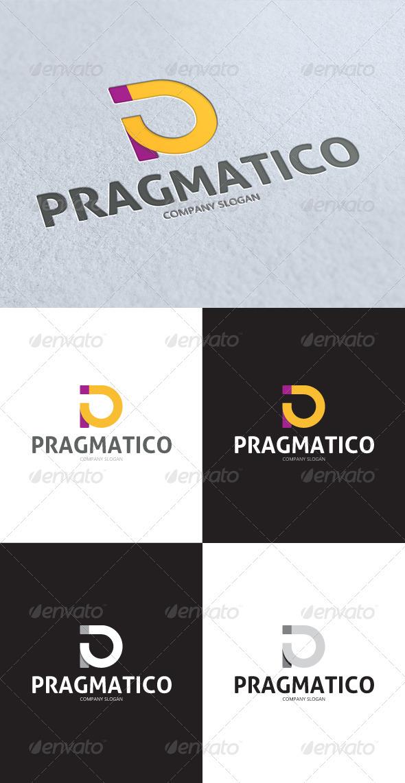 GraphicRiver Pragmatico P Letter Logo 3342368