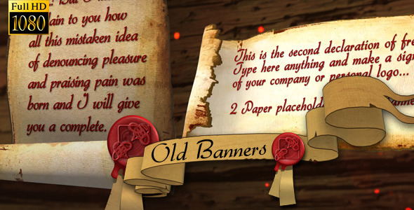 After Effects Project - VideoHive Old Banners and Papers 3302687