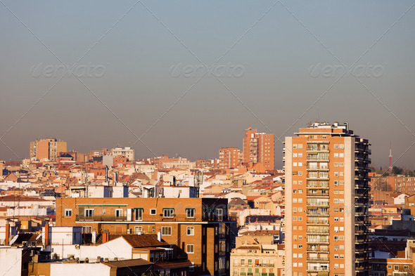 Madrid Cityscape - Stock Photo - Images