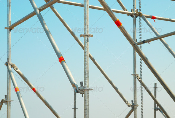 Part of the construction scaffold - Stock Photo - Images