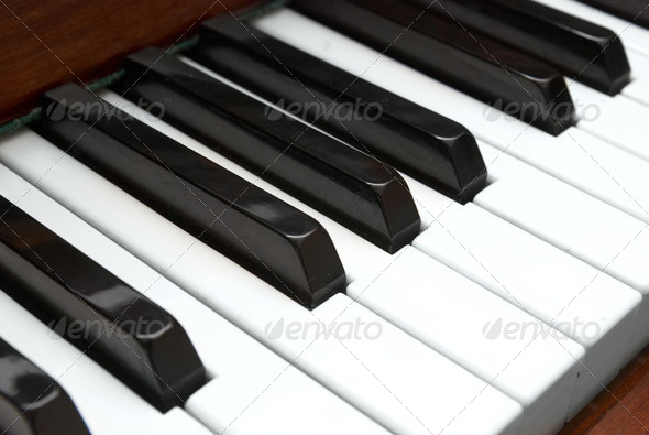 Piano keys - Stock Photo - Images
