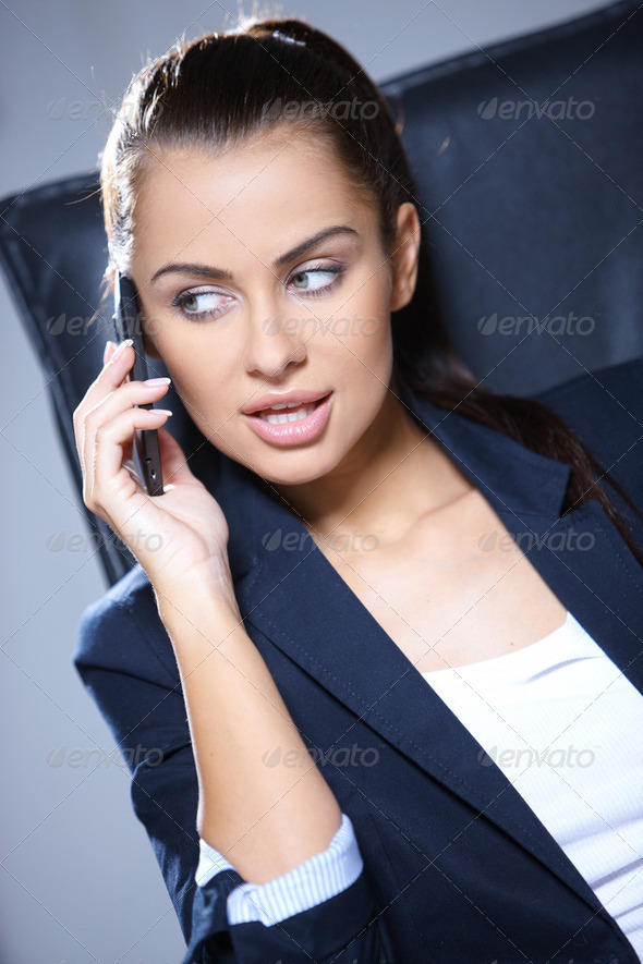 Portrait of beautiful business woman - Stock Photo - Images