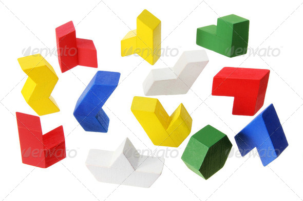 Wooden Puzzle Pieces - Stock Photo - Images