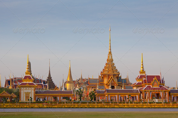 Thai royal funeral and Temple - Stock Photo - Images