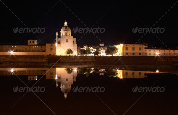 Florence at night - Stock Photo - Images