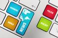 News Topics On The Keyboard Keys - PhotoDune Item for Sale