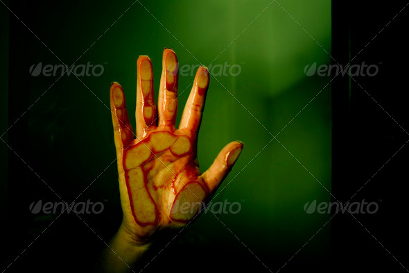 Bloody hand - Stock Photo - Images