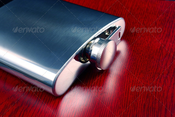 Whiskey flask - Stock Photo - Images