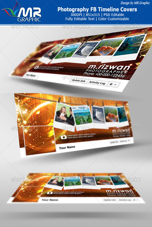 GraphicRiver Photography FB Timeline Covers 3343022