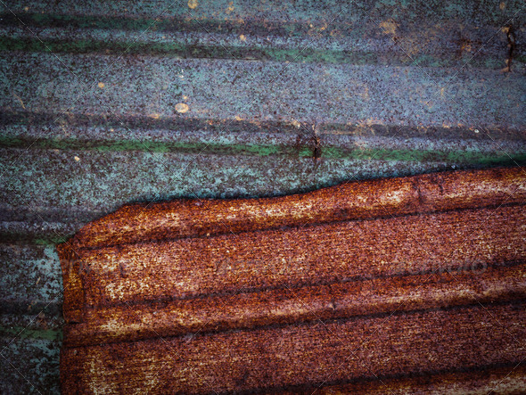 The rust on zinc metal texture for background - Stock Photo - Images
