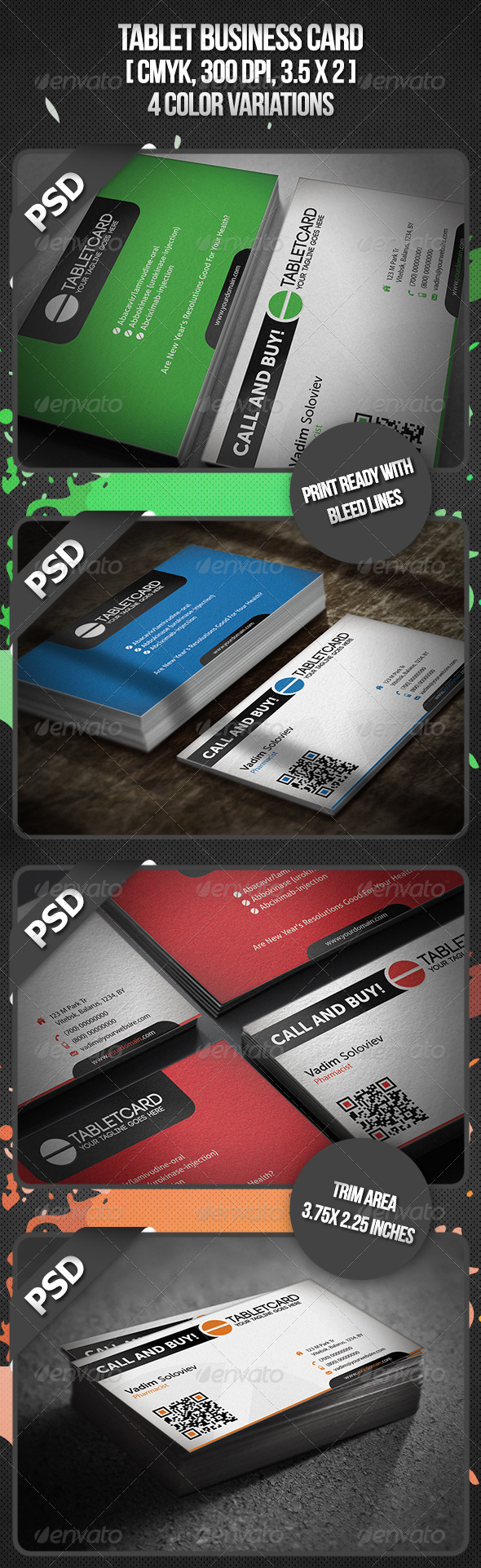 GraphicRiver Tablet Business Card 3343286