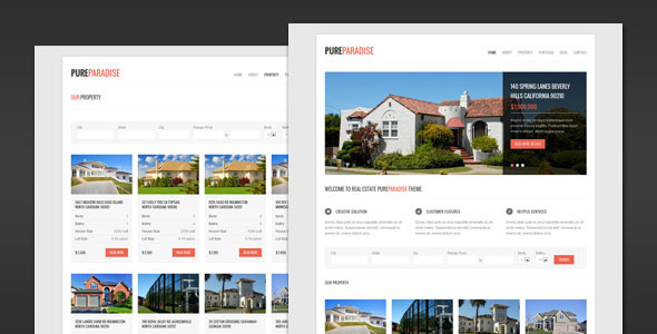 Pure Paradise - Clean Real Estate HTML Template