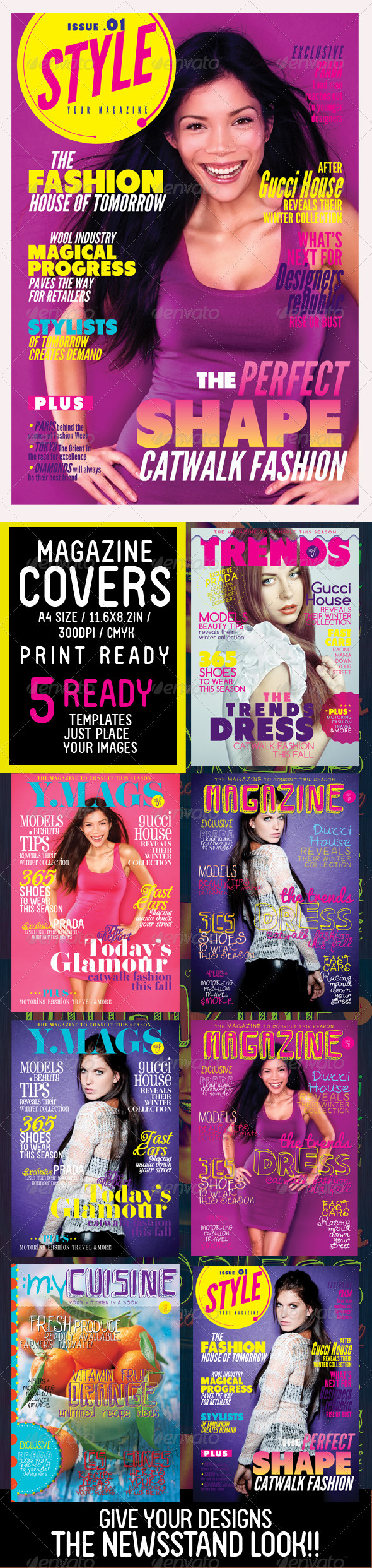 GraphicRiver Magazine Covers Templates 3343436