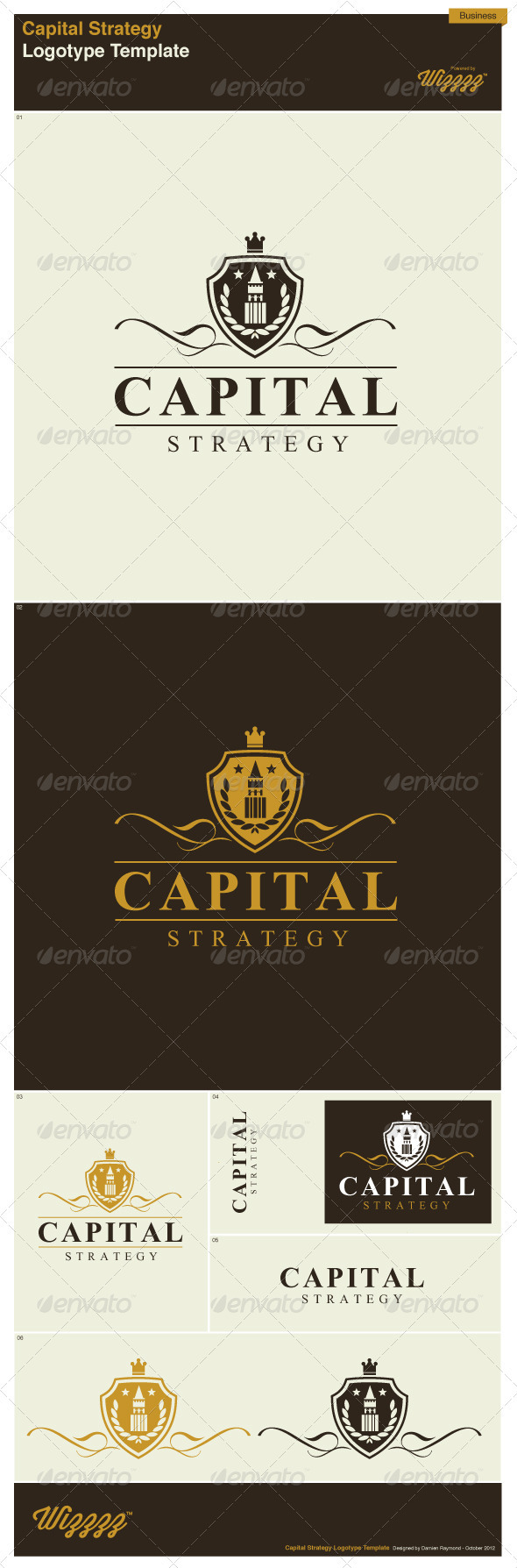 GraphicRiver Business Capital Strategy Logotype Template 3329454
