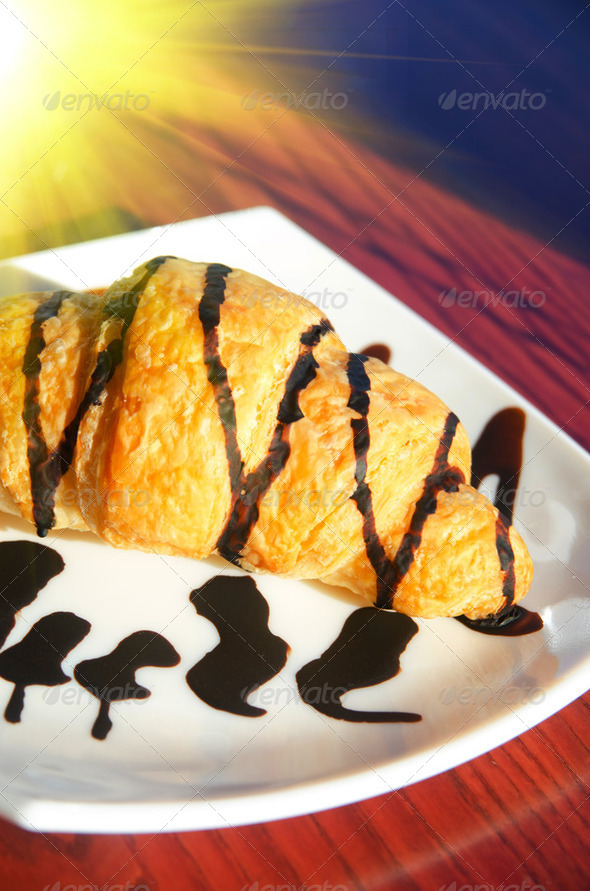 Fresh croissant - Stock Photo - Images