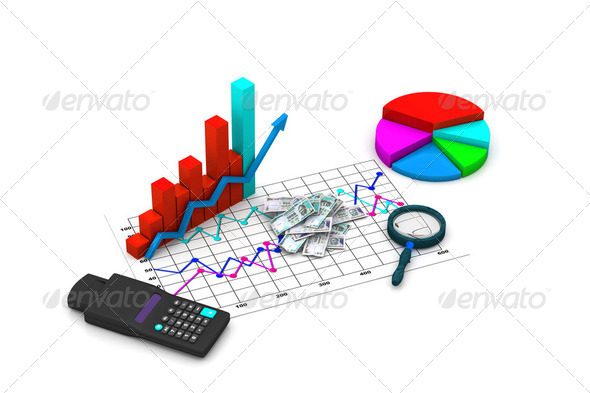 Financial graph analyzing - Stock Photo - Images