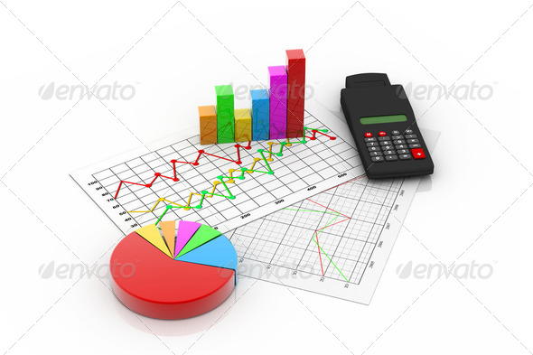 Business graph analyzing - Stock Photo - Images