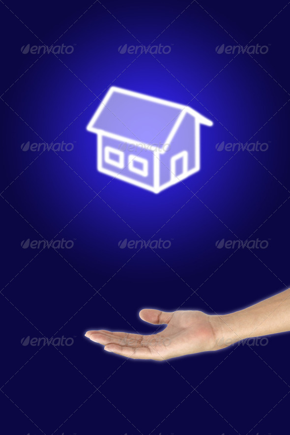 Give this house to you. - Stock Photo - Images