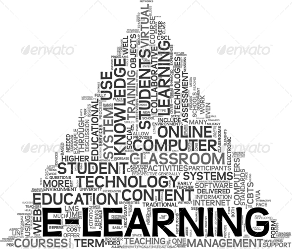 E-learning concept in tag cloud - Stock Photo - Images