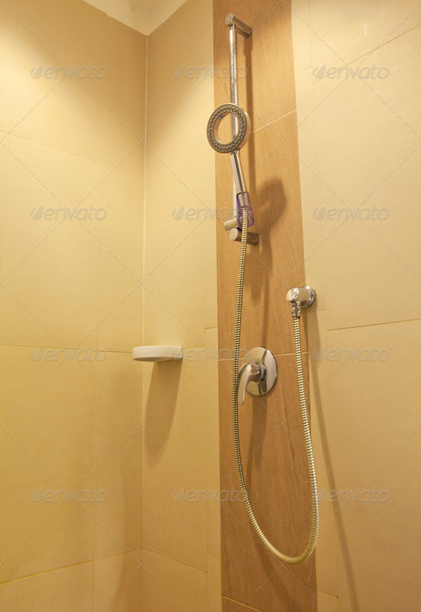 modern en-suite shower - Stock Photo - Images