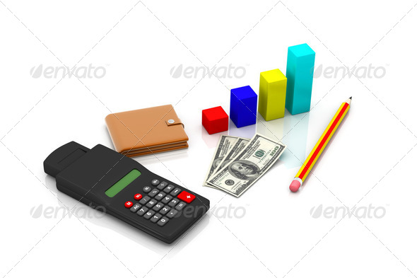 business chart showing financial success at the stock market - Stock Photo - Images