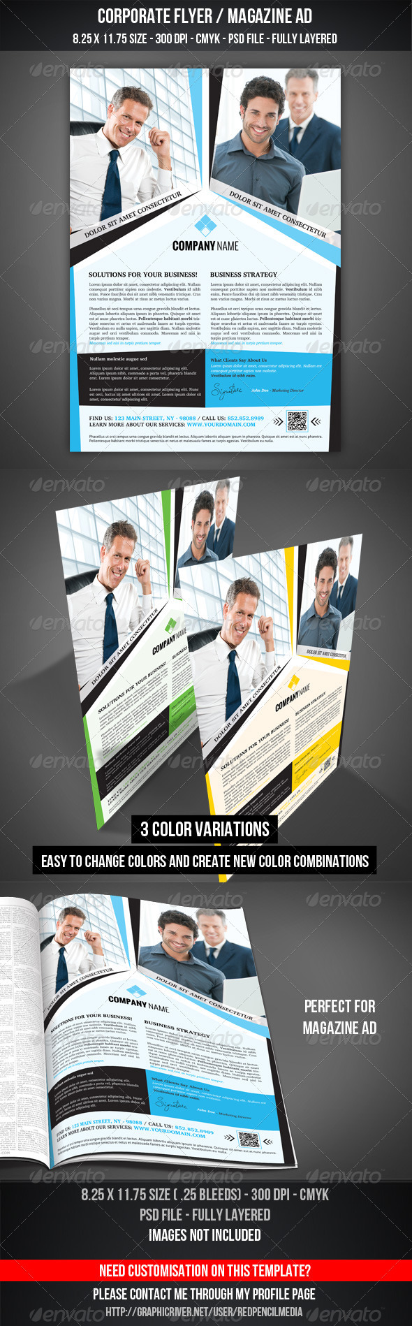 GraphicRiver Corporate Flyer Magazine AD 3343537
