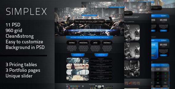 Simplex - PSD Theme - Creative PSD Templates