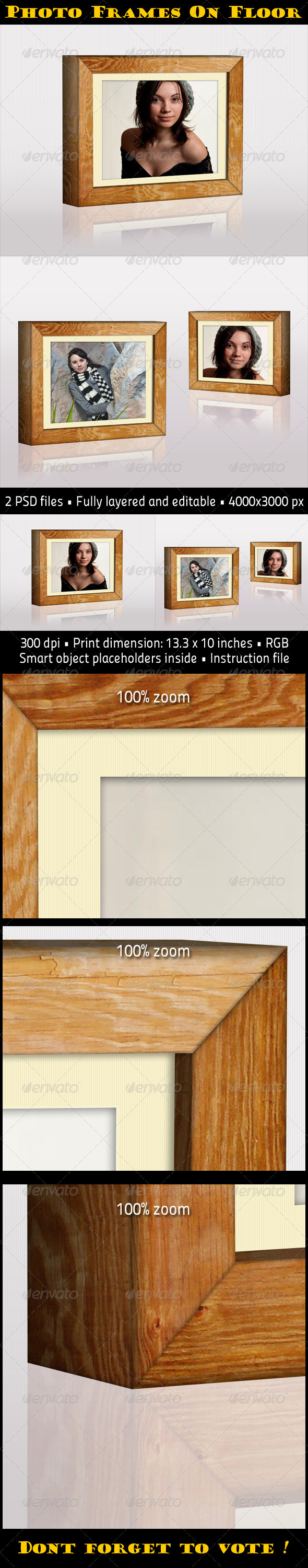GraphicRiver Photo Frames On Floor 3344218