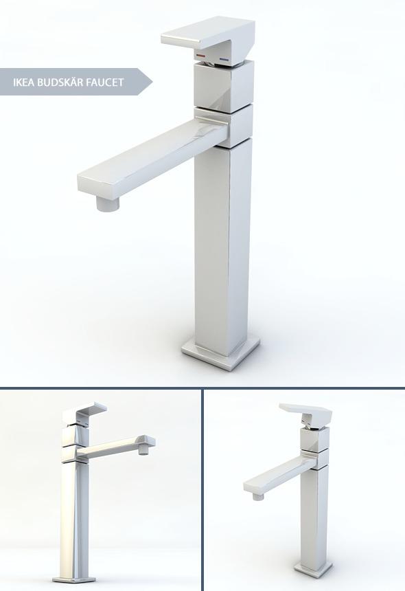Budskar Kitchen Faucet - 3DOcean Item for Sale