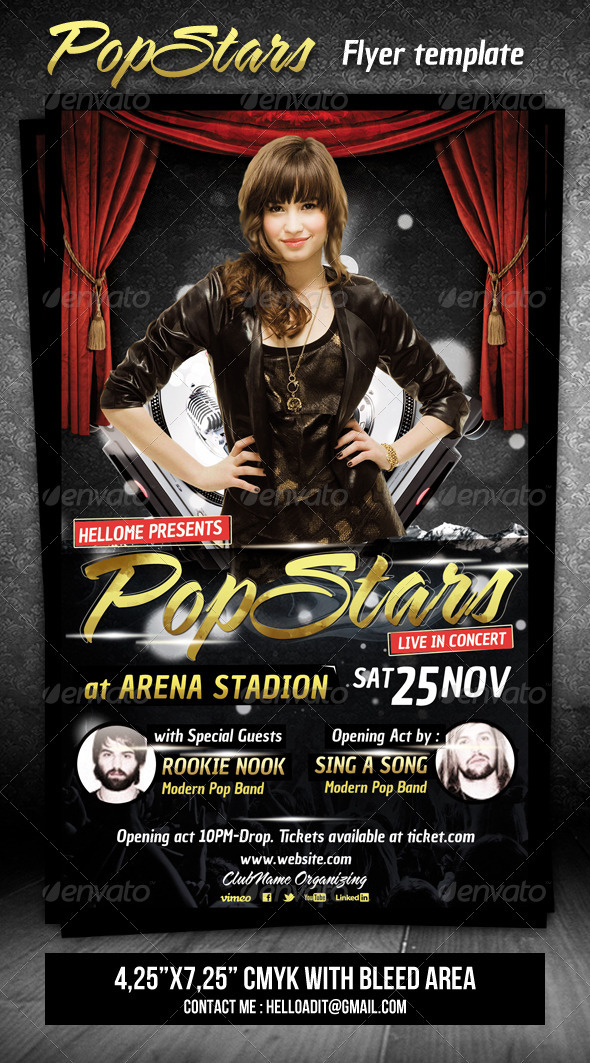 GraphicRiver Pop Stars Flyer Template 3344658