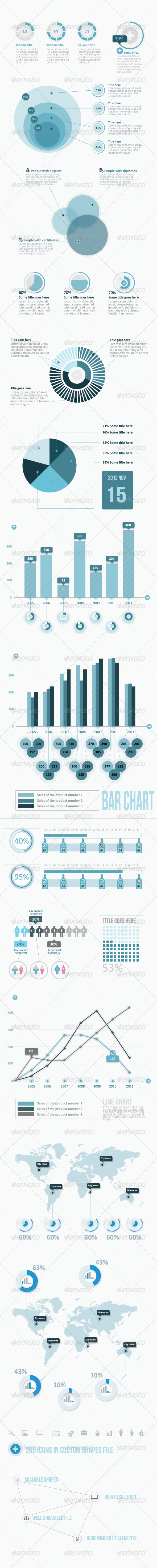 GraphicRiver Infographic Elements Pack BIg Pack 3344880