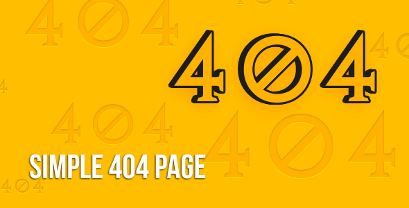ThemeForest Yellow 404 Page 3304707