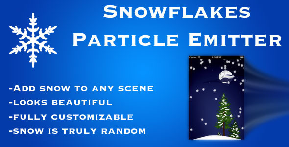 CodeCanyon Snowflakes Particle Emitter 3345600