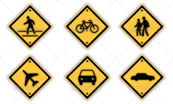 Traffic signs. - Stock Photo - Images