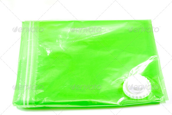 vacuum storage clothes bag - Stock Photo - Images