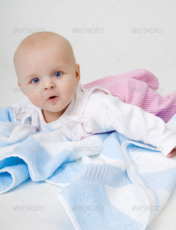 surprised beautiful baby - Stock Photo - Images
