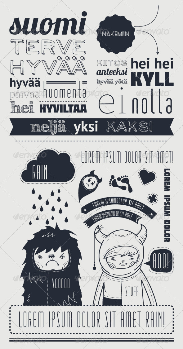 GraphicRiver Typography with funny character 3345670
