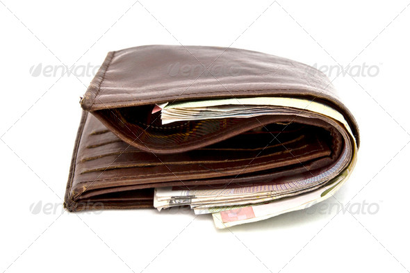 Brown wallet - Stock Photo - Images