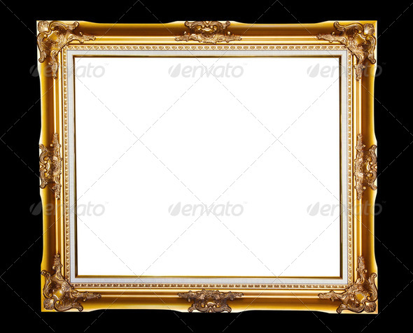 Gold frame  - Stock Photo - Images