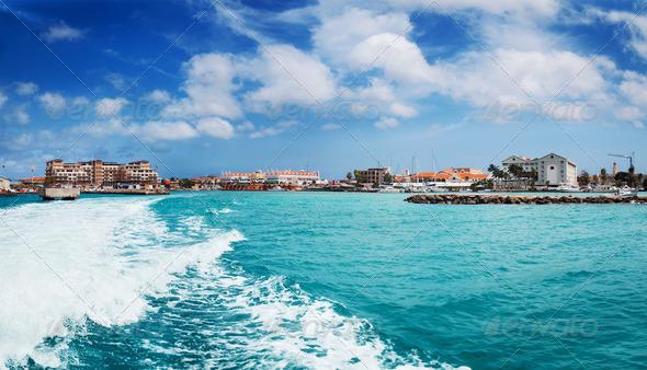 Leaving Oranjesatad harbor - Stock Photo - Images