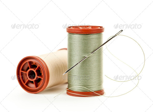 Spools of thread - Stock Photo - Images